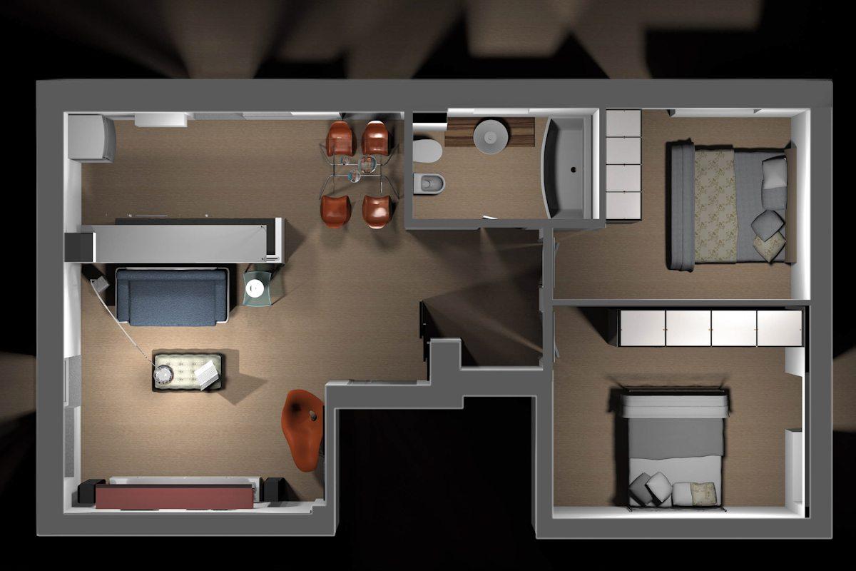 Appartamento sb marco d 39 andrea architecture interior for Render case