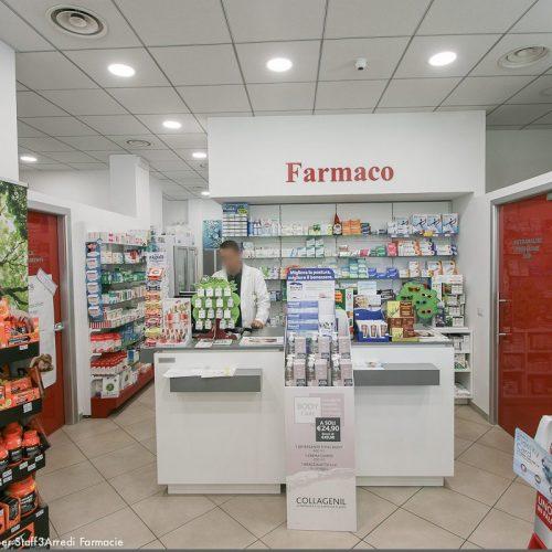 Progetto Farmacia Vista Bancone Porta Rossa