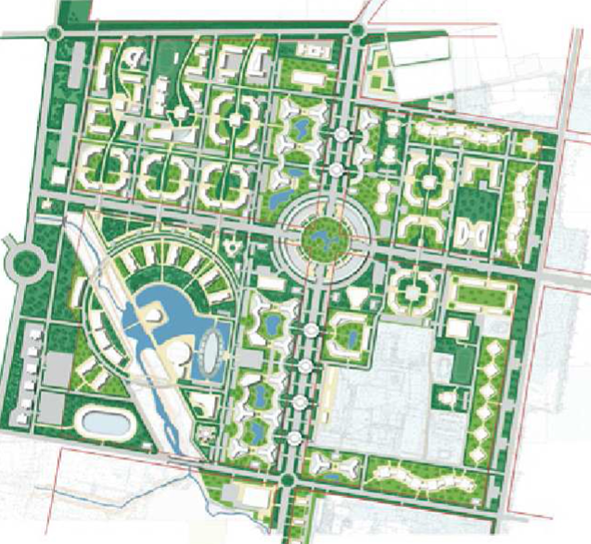 General Plan Urban Project Blagoveshchensk Russia